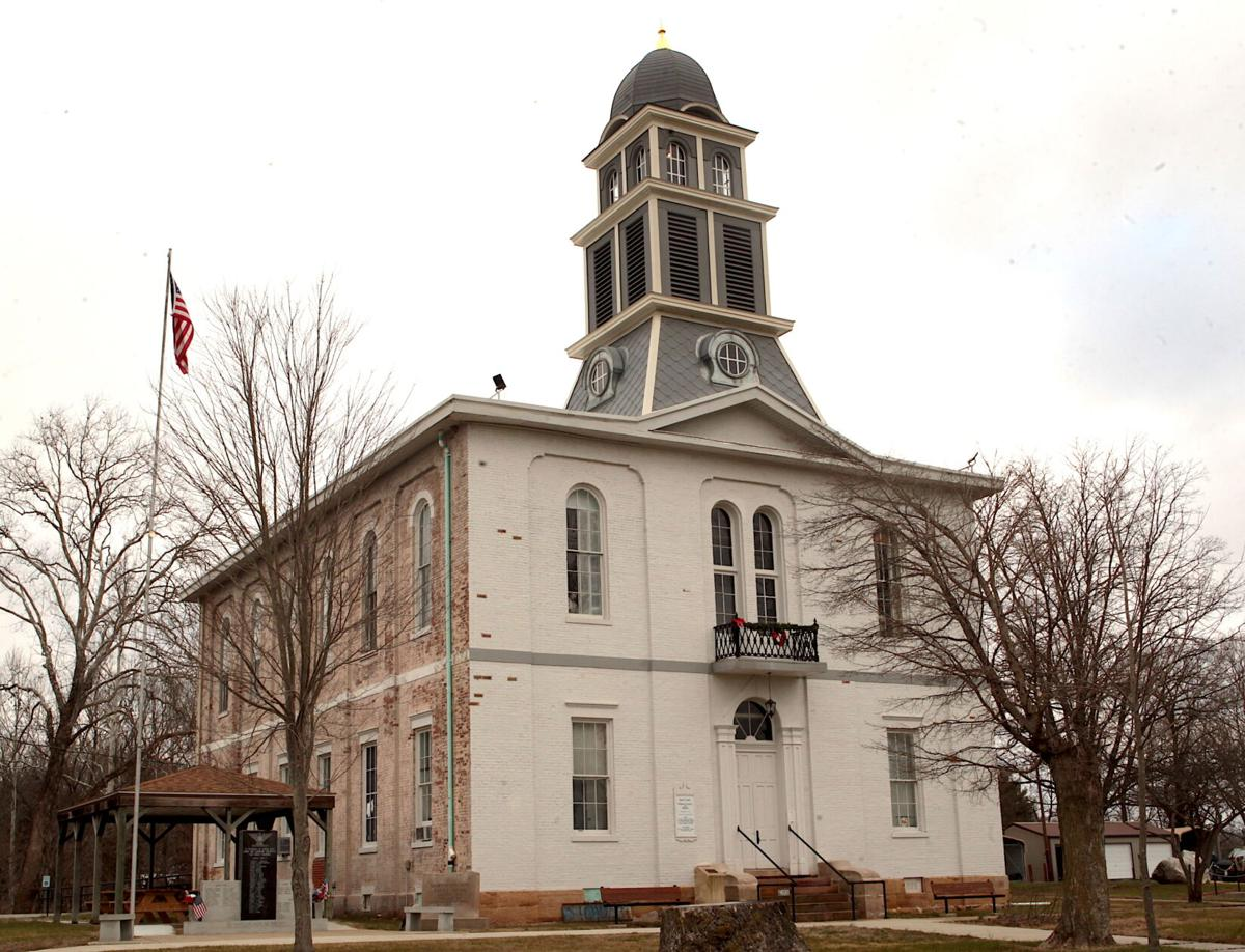 Work continues on the 1876 Martin County Courthouse in Shoals. The building, once slated for demolition, is now the county museum. Staff photo by Garet Cobb